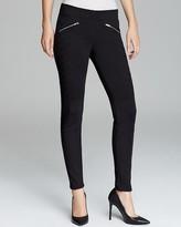 Aqua Pants - Quilted Ponte Zip
