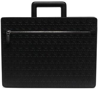 Salvatore Ferragamo Gancini-embossed laptop bag