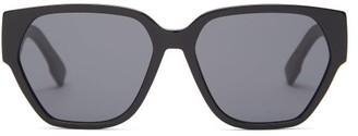 Christian Dior Diorid1 Square Acetate Sunglasses - Womens - Black