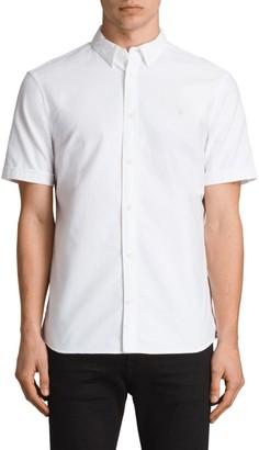 AllSaints Hungtingdon Slim Fit Short Sleeve Shirt