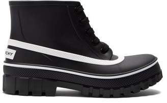 Givenchy Glaston Lace-up Rubber Rain Boots - Womens - Black