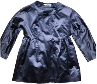 Prada Anthracite Silk Top for Women