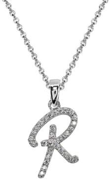 Designs By Fmc .925 Sterling Silver R Initial Pendant Necklace