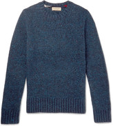 Burberry - Donegal Mélange Wool, Cashmere And Mohair-blend Sweater