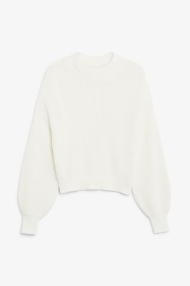 Monki Back button sweater