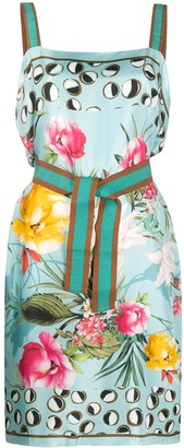 Altea Floral-Print Silk Dress