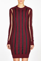 McQ by Alexander McQueen Cable And Transparent Knit Jumper Dress