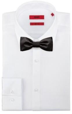 HUGO BOSS Satin Bow Tie In Silk Jacquard - Black