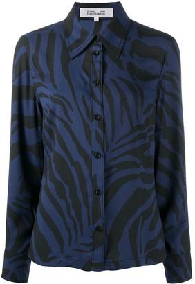 Diane von Furstenberg Samson tiger-print shirt