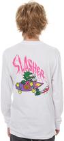 Santa Cruz Kids Boys Og Slasher Ls Tee White