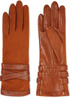 agnelle woolblend and leather gloves