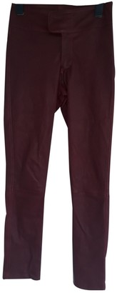 Sly 010 Sly010 Burgundy Leather Trousers
