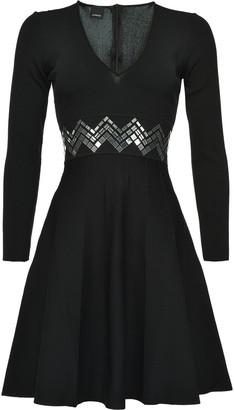 Pinko Mirror-Sequin Flared Dress
