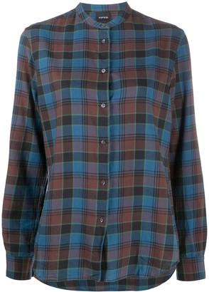 Aspesi Tartan Check Buttoned Shirt