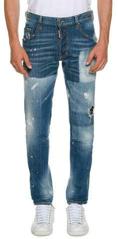 DSQUARED2 Washed Skater Jeans