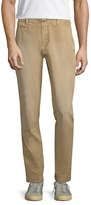 Knowledge Cotton Apparel Solid Flat Front Slim Fit Chinos