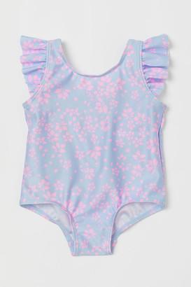 H&M Flounce-trimmed swimsuit