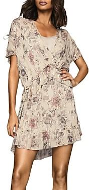 Reiss Blythe Printed Mini Dress