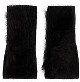 Yves Salomon Shearling Lamb Fingerless Gloves: Black