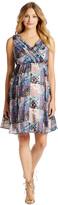 Motherhood Jessica Simpson Floral Patchwork Maternity Dress