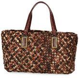 Bottega Veneta Lido Snakeskin & Lizard Tote Bag with Pouch