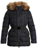 Moncler Clio hooded fur-trimmed quilted-down coat
