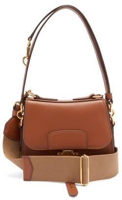 Miu Miu City Leather Shoulder Bag - Tan