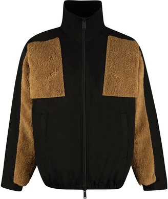 DSQUARED2 Nylon And Fleece Full-zip Jacket