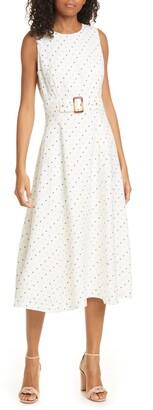 Ted Baker Caryla Belted Linen Blend A-Line Dress