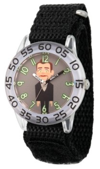 EWatchFactory Boy's Disney Toy Story 4 Dummy Black Plastic Time Teacher Strap Watch 32mm
