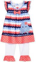 Nannette 2-Pc. Mixed-Print Octopus Peplum Tunic and Capri Leggings Set, Baby Girls (0-24 months)