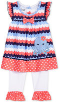 Nannette 2-Pc. Mixed-Print Octopus Peplum Tunic & Capri Leggings Set, Baby Girls (0-24 months)