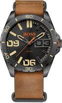 BOSS ORANGE Men's Berlin Brown Leather Strap Watch 48mm 1513316