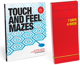 Knock Knock Touch and Feel Mazes Bookk & Seven Days a Week Planner List