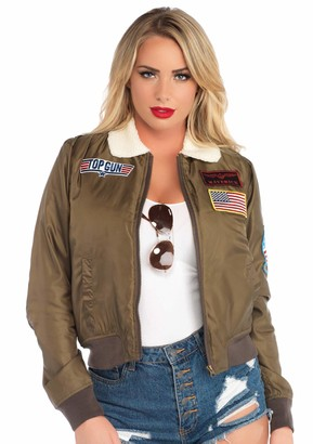 Leg Avenue Womens Top Gun Licensed Bomber Jacket
