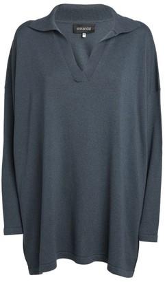 eskandar Silk-Cashmere V-Neck Sweater