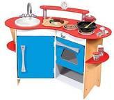 Melissa & Doug ; Cook's Corner Wooden Kitchen Pretend Play Set