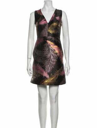 Emilio Pucci Printed Mini Dress Black