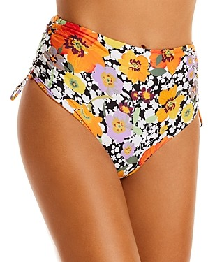 L-Space Teri Printed High Waist Bikini Bottom
