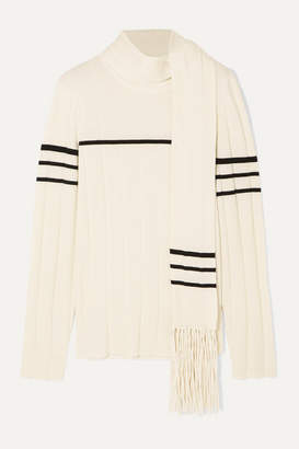 J.W.Anderson Tasseled Draped Wool And Cashmere-blend Sweater - White