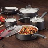 Paula Deen Savannah 10-Piece Gray Cookware Set with Lids