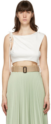 ANDERSSON BELL White Drape String Sofie Tank Top