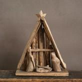 Nobrand No Brand Driftwood Nativity Scene with Creche
