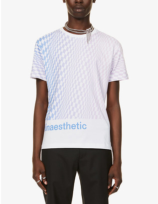 Paco Rabanne Kinaesthetic graphic-print cotton-jersey T-shirt