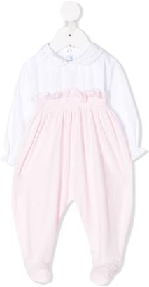Siola Two-Tone Ruffled Pajamas
