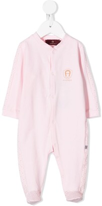 Aigner Kids Embroidered Logo Baby Grow