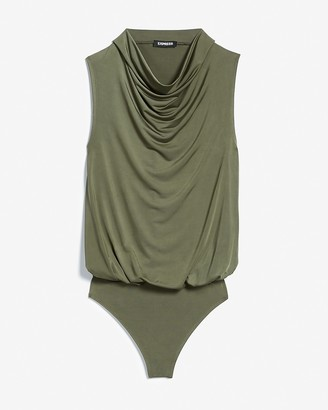 Express High Cowl Neck Thong Bodysuit