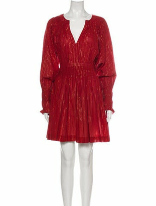 Ulla Johnson V-Neck Mini Dress w/ Tags Metallic