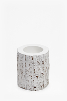 French Connection White Bark Candle Holder