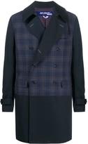 Junya Watanabe Check Double-Breasted Coat